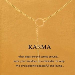Jewelry - 4 / $25 New Karma Circle Bar Lariat Necklace